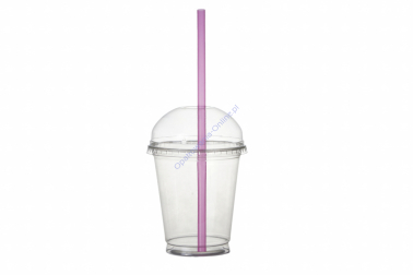 (Kubek + Pokrywka + Słomka) Shake 300ml 500szt PET Coveris